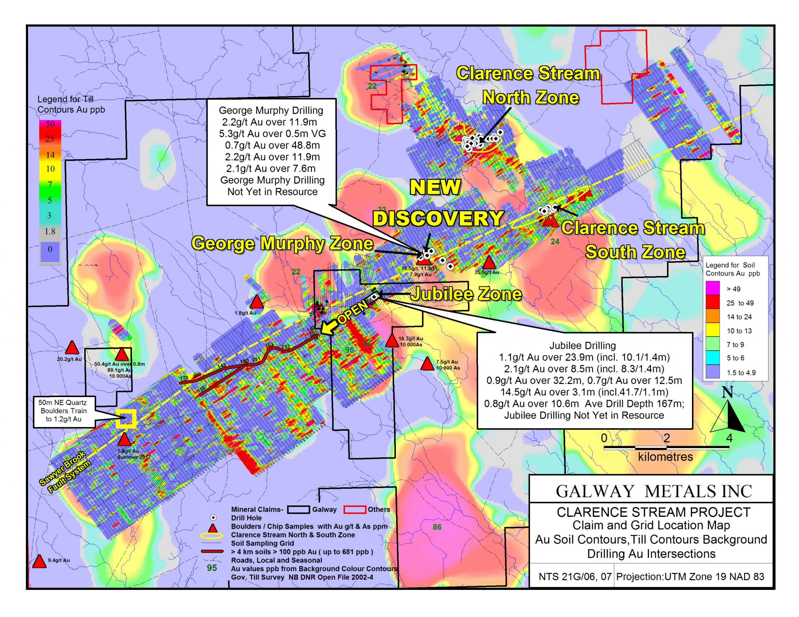 Map Grid Of Australia Zone 50.Galway Metals New Discovery Gets Bigger 0 7 G T Au Over 48 8m
