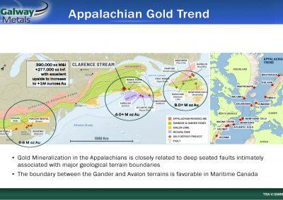 gold-trend-Appalachian-TSXV-Stock-public-company-Galway-Metals-Clarence-Stream-gold-project-New Brunswick-Estrades-mine-Casa-Berardi-Quebec-Canada