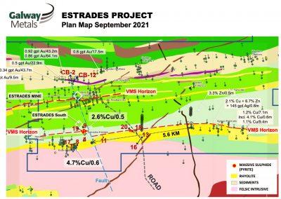 project-map-Appalachian-TSXV-Stock-public-company-Galway-Metals-Clarence-Stream-gold-project-New Brunswick-Estrades-mine-Casa-Berardi-Quebec-Canada